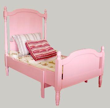 Pinkki prinsessasänky, tervaleppää - värin päätät sinä! Solid wood bed for  a princess - paint it pink or any other colour #interior