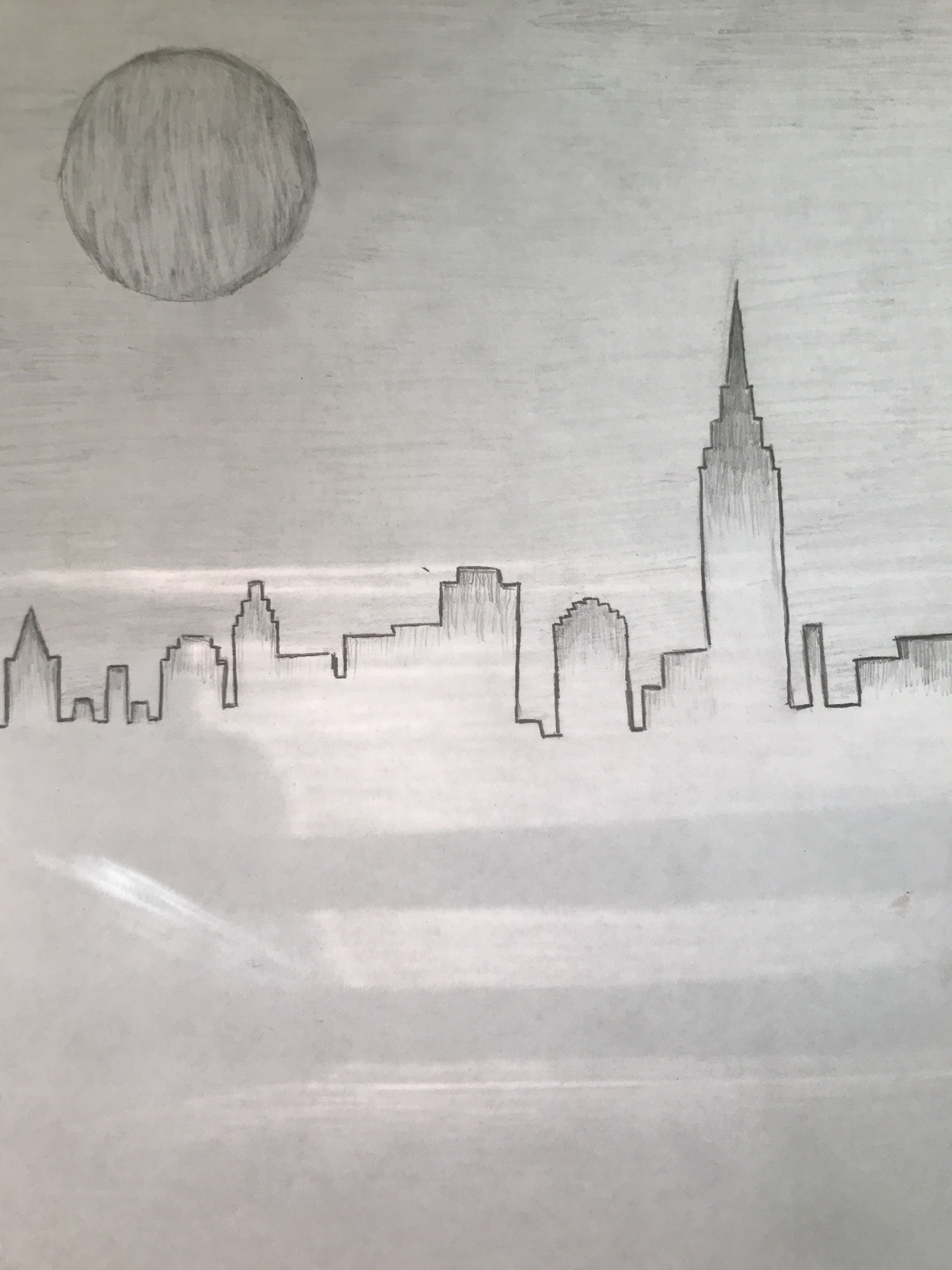 City scape simple drawing Sketches in 2019