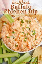 Healthier Buffalo Chicken Dip - #buffalo #chicken #healthier - #Rossie'sHealthyAppetizer #buffalochickendip