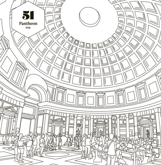 The Pantheon In Rome Ranks Number 51 Lonely Planets Ultimate Colouring Book 100 Best Places On Planet To Colour Nearly 2000 Year Old