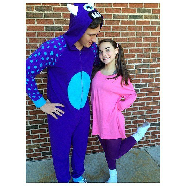 halloween disney couple costume sulley and boo from monsters inc - Monster Inc Halloween Costumes Boo