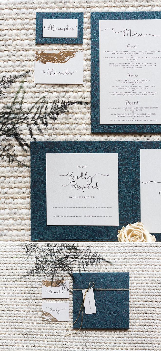 Such A Stunning Modern And Elegant Invitation Suite Wedding