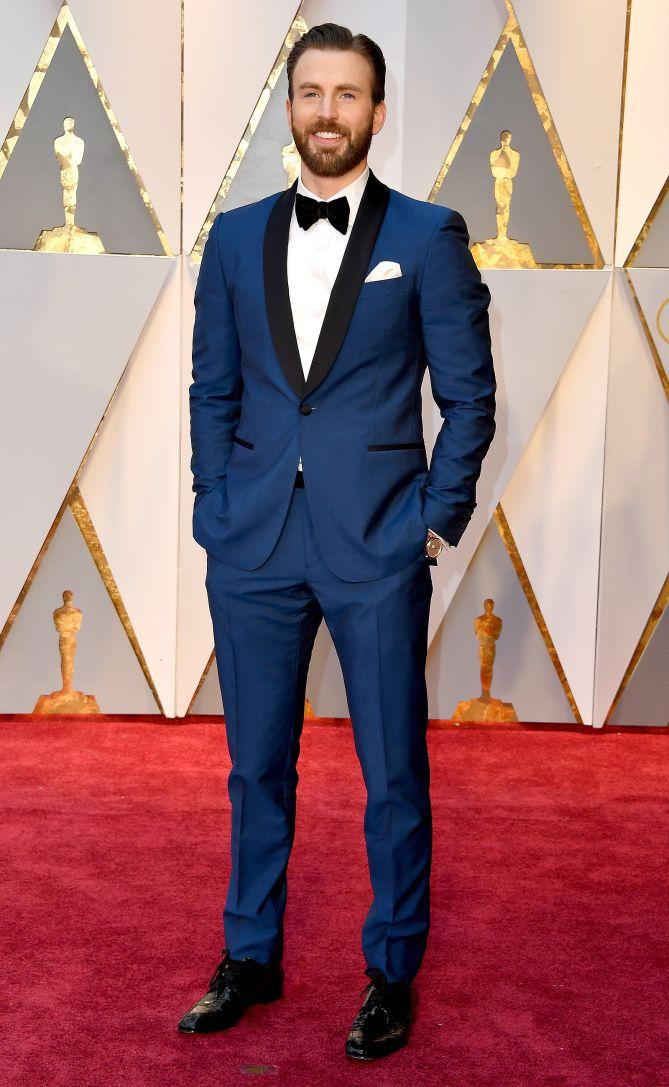 3e085a89fce45 Actor Chris Evans at the Academy Awards 2017: Celeb Red Carpet Arrivals