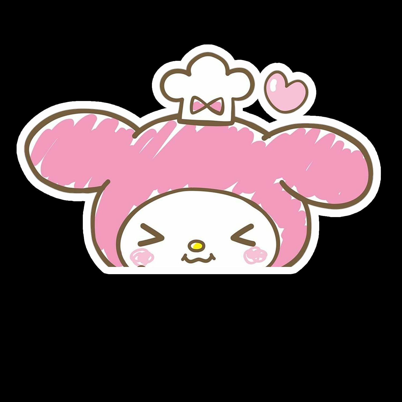 Peeker Anime Peeking Sticker Car Window Decal Pk468 My Melody My Melody Cute Stickers Window Decals [ 1500 x 1500 Pixel ]