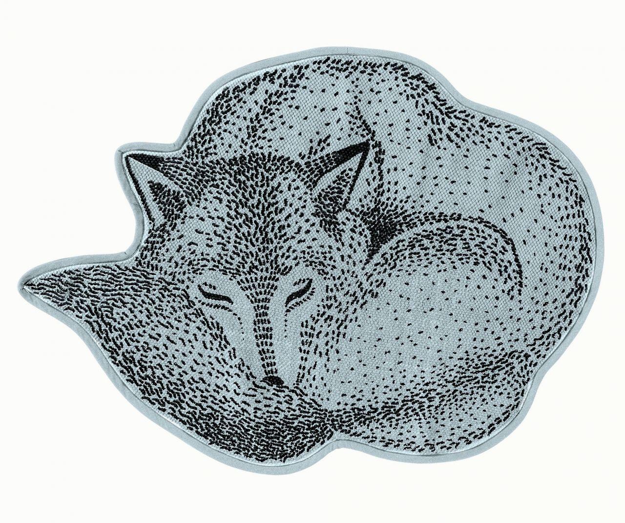 Kobereček do dětského pokoje ve tvaru lišky Fox Sky blue