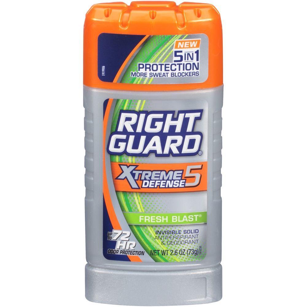 Right Guard Deodorant Stick Fresh Blast Scent, 2.6 Ounce