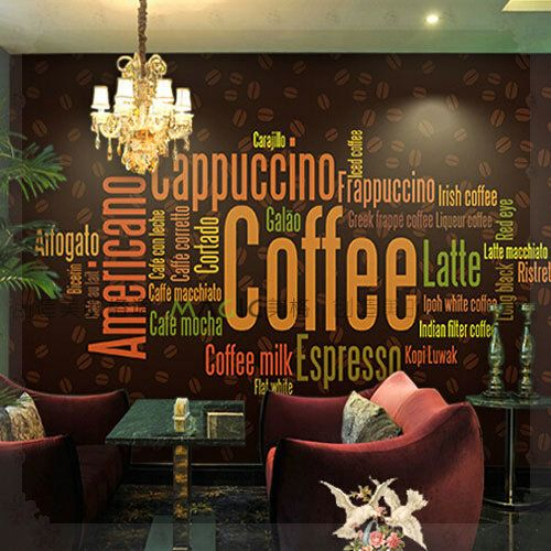 Large Photo Wall Murals Wall Paper Personality Coffee Font B Shop B Font Font B Living Jpg 500 500 Cafe Wall Mural Cafe Coffee Shop Interior Design