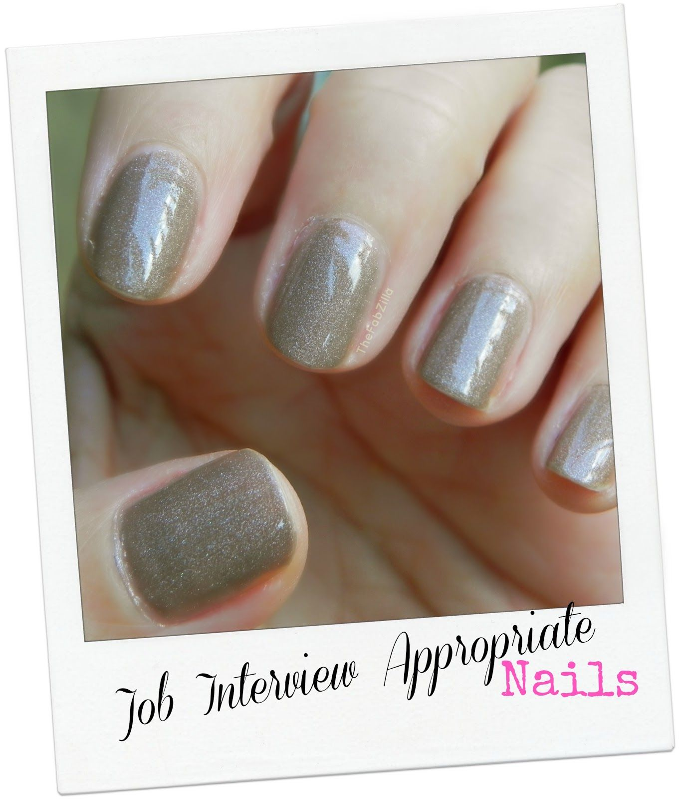 theFABZILLA.com: Job Interview Appropriate Nails | Makeup & Nails ...