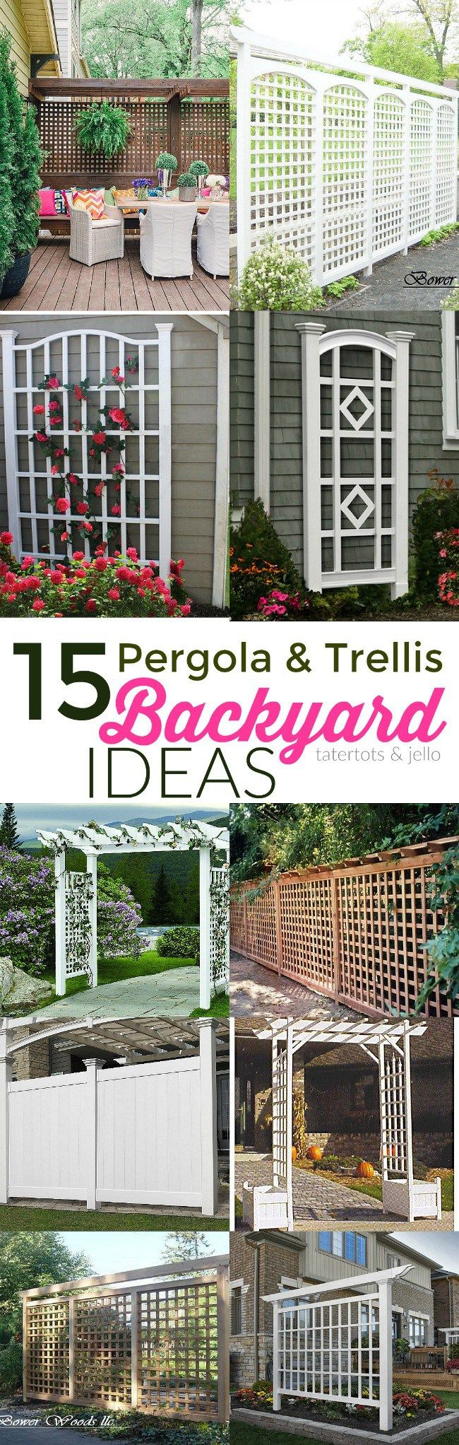 15 Trellis And Pergola Backyard Ideas Tatertots Jello Patio