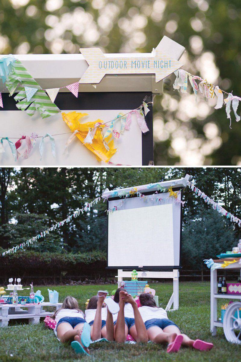 Diy Outdoor Movie Screen Stand
