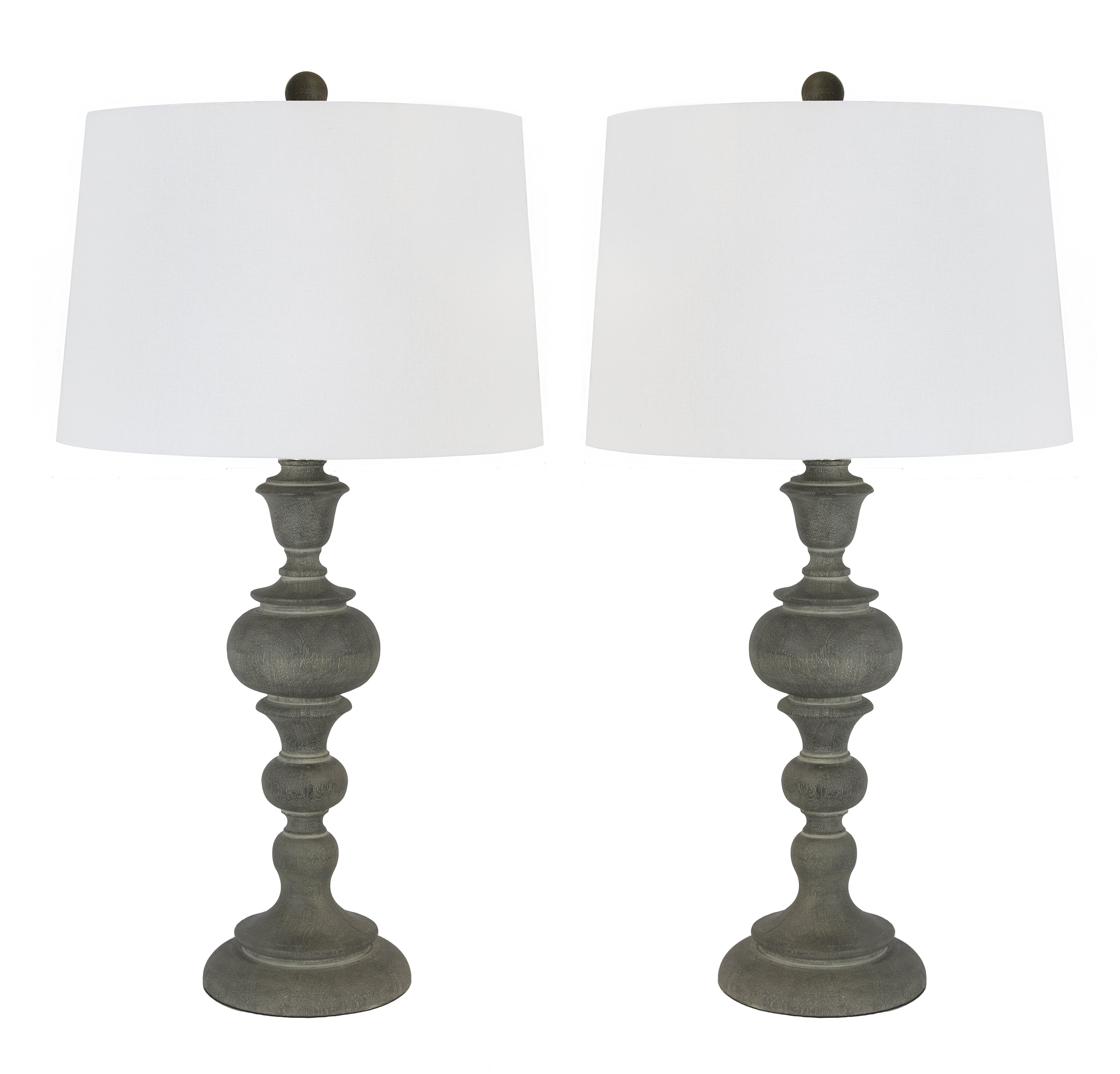 "Gracie Oaks Mathena Washed 30"" Table Lamp & Reviews"