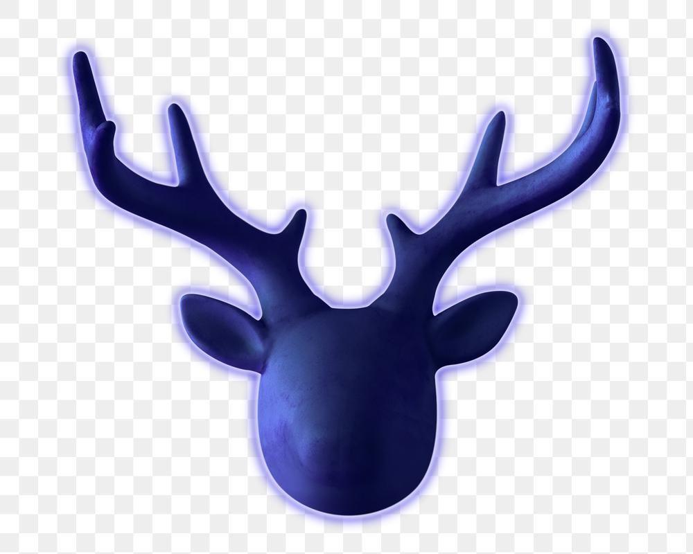 Blue Neon Decorative Deer Head Design Element Free Image By Rawpixel Com Kwanloy Design Element Animal Decor Blue Reindeer
