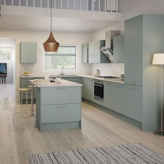 Fresh Slab Style Kitchen Cabinets