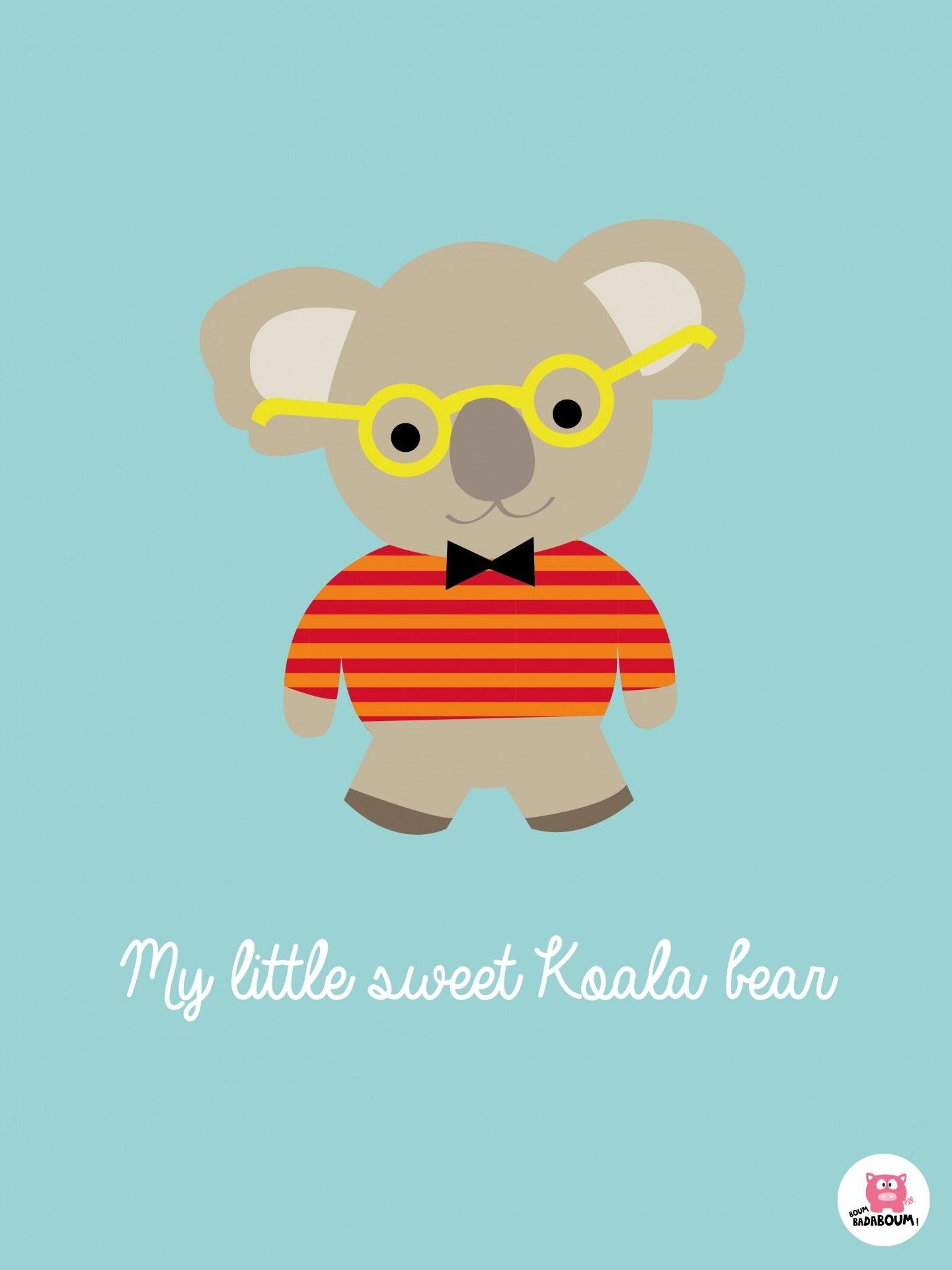 Affiche enfant Koala bear Autres bébé par boumbadaboum