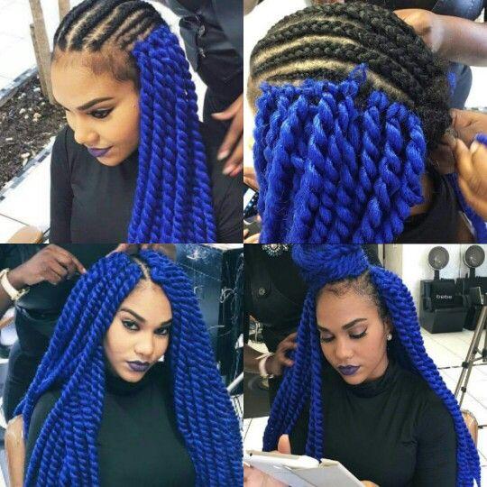 Blue Crochet Marley Senegalese Twist