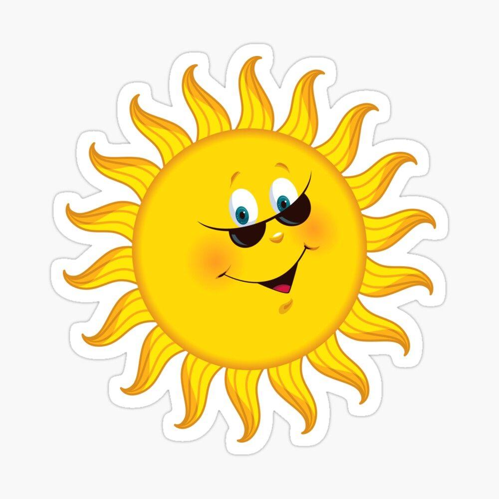 Happy Sun Sticker By Simonau In 2021 Cartoon Sun Happy Sun Clip Art