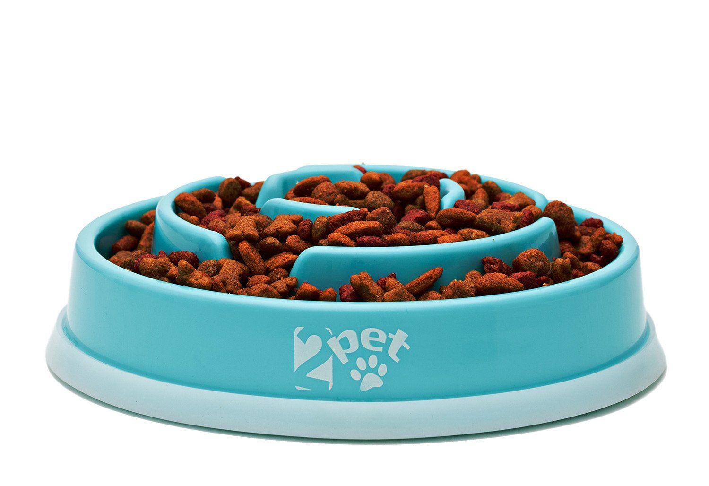 2pet Slow Feed Dog Bowl Slowly Bowly By Fun Interactive Dog Dish