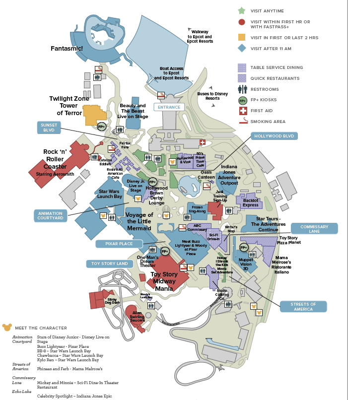Disney s Hollywood Studios General Map