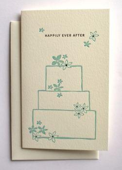 Happily ever after Card Glückwunsch Karte zur Hochzeit