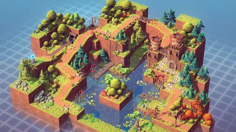 Isometric Pack 3d Pixel Art Games Environment Concept Art