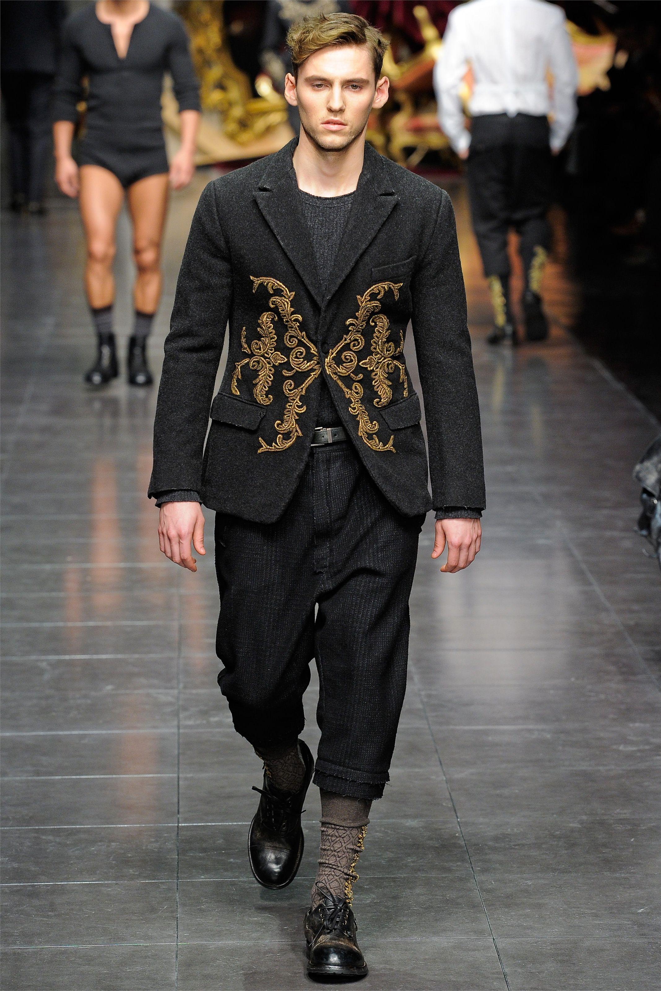 Sfilata Moda Uomo Dolce & Gabbana Milano Autunno Inverno