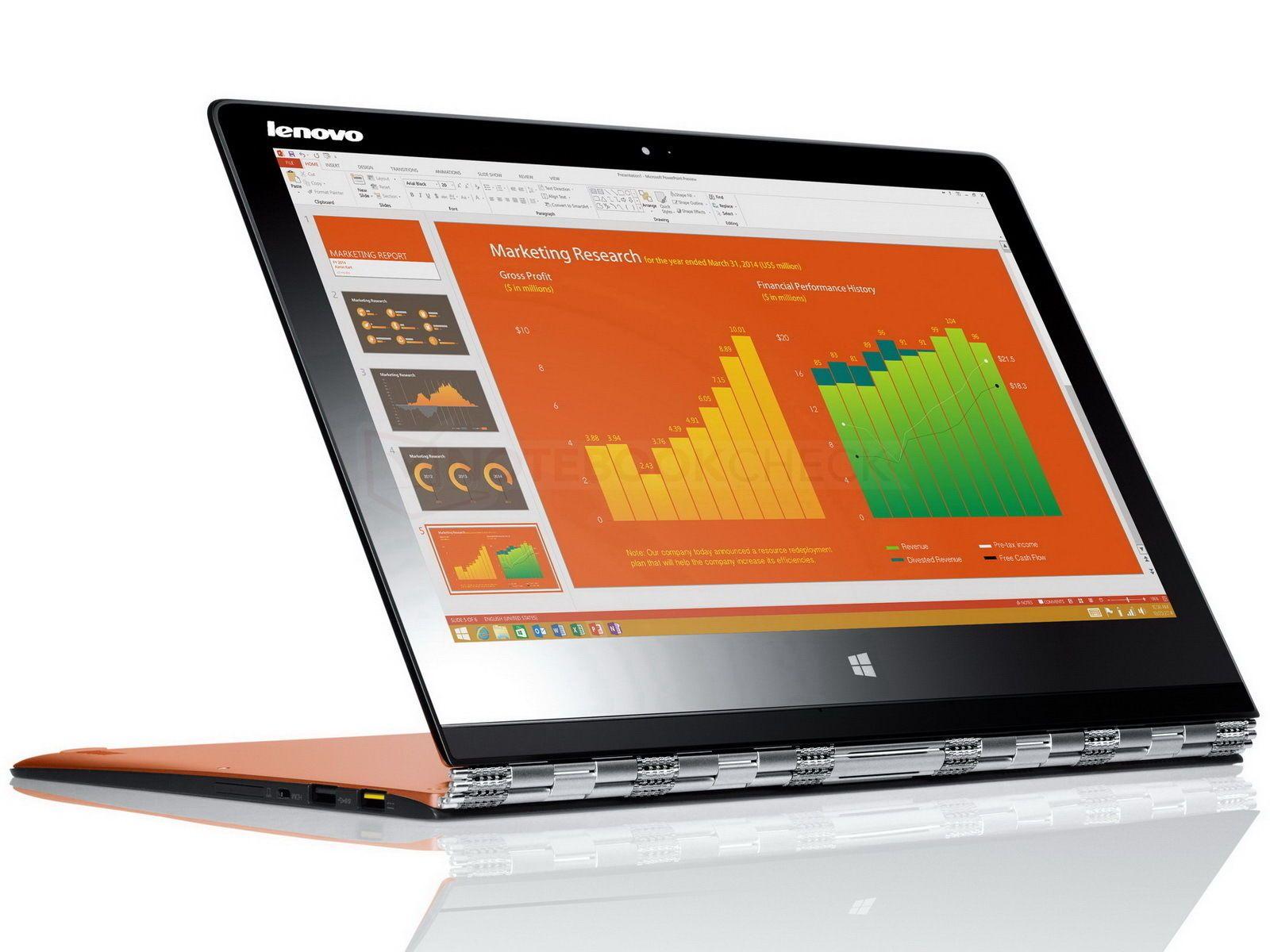 """Lenovo yoga 3 pro intel core m 5y70 8gb ram 256gb ssd 13"""" qhd"""