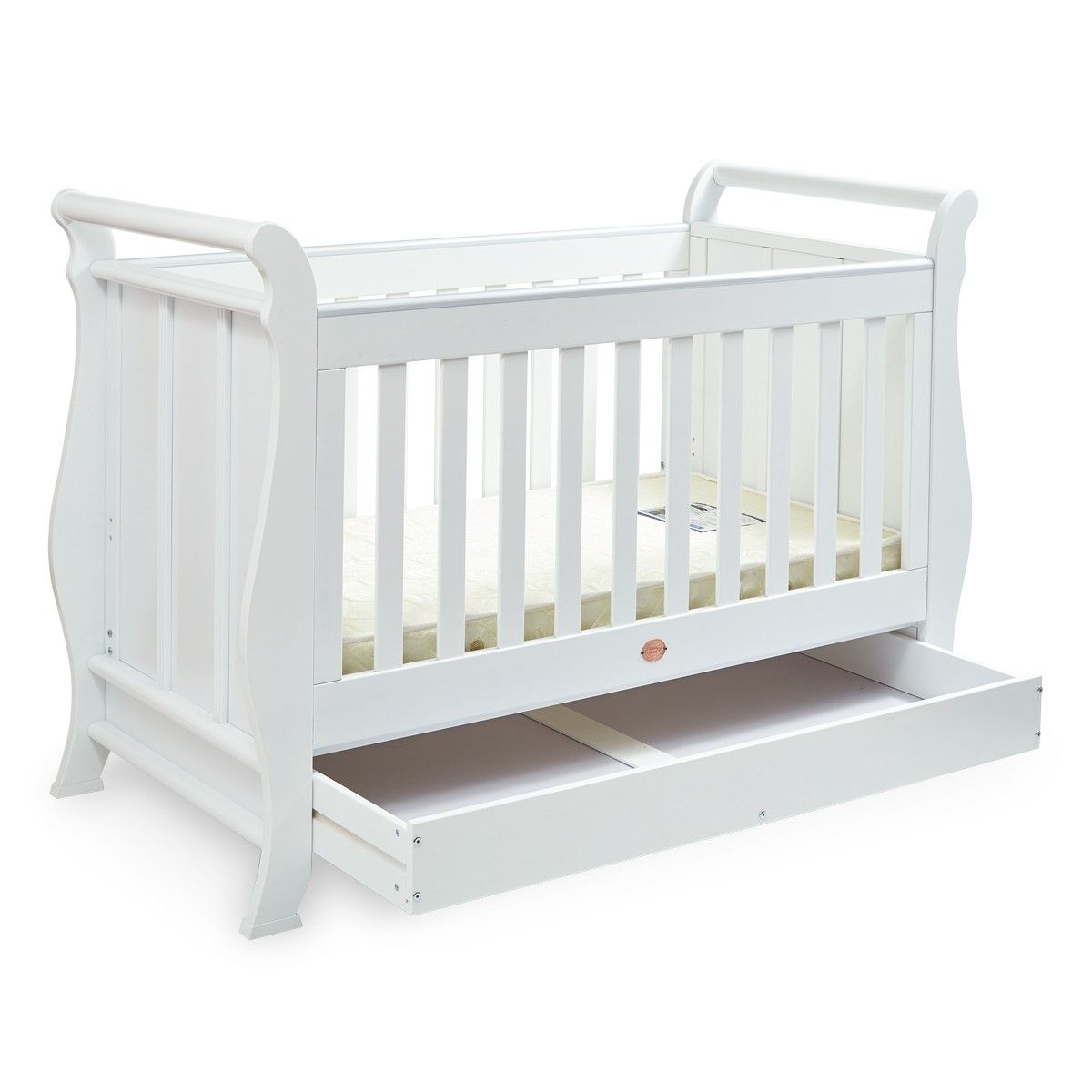Sleigh Cot Bed Nursery Furniture Sets