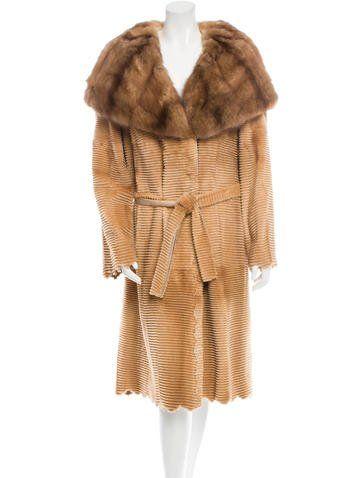 J. Mendel Sheared Mink and Sable Coat