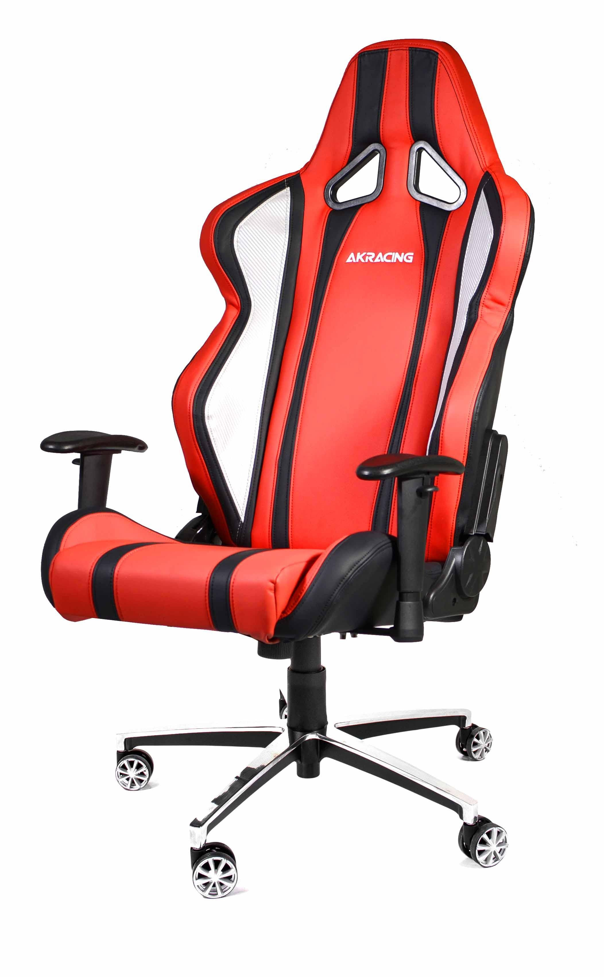 AKRACING Inferno Gaming Chair Silver Red WRGamers Akracing
