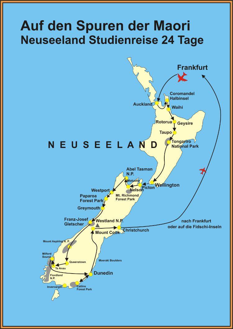 Neuseeland Stu nreisen 24 Tage touristik