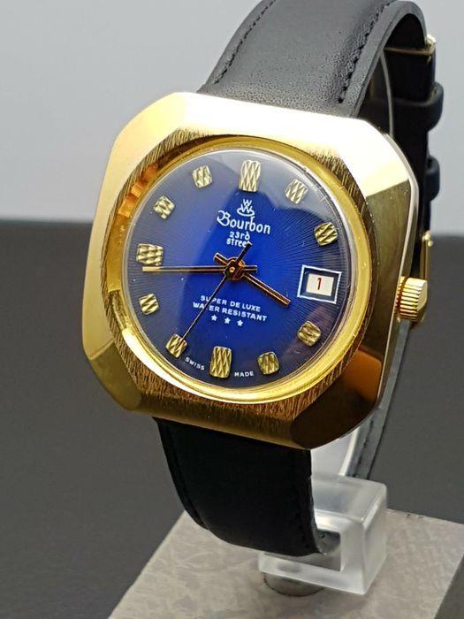 Bourbon Super De Luxe – men s watch – Swiss made - 1970s.  e9dd693aed