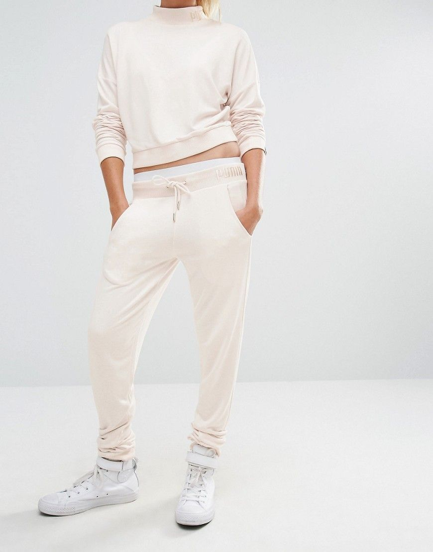bc6d7fc161c2 Puma Exclusive To ASOS Lounge Pants In Pale Pink