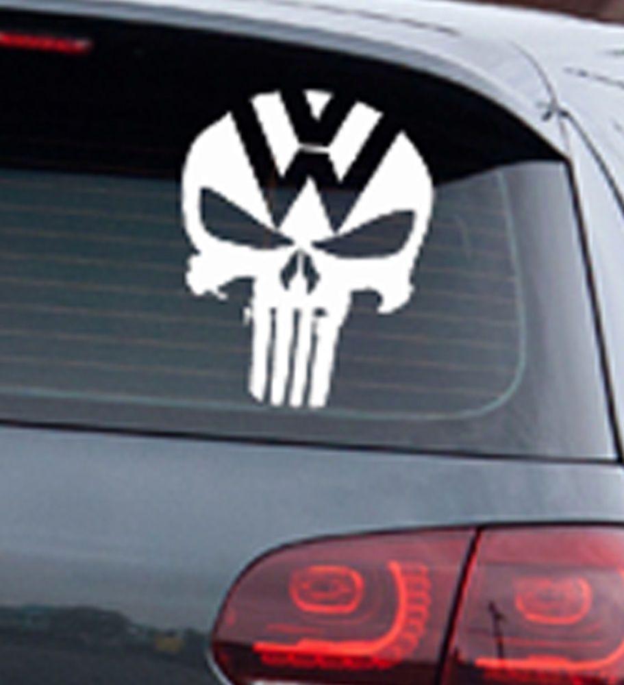 Details About Auto Punisher Star Skull Pentagram Car