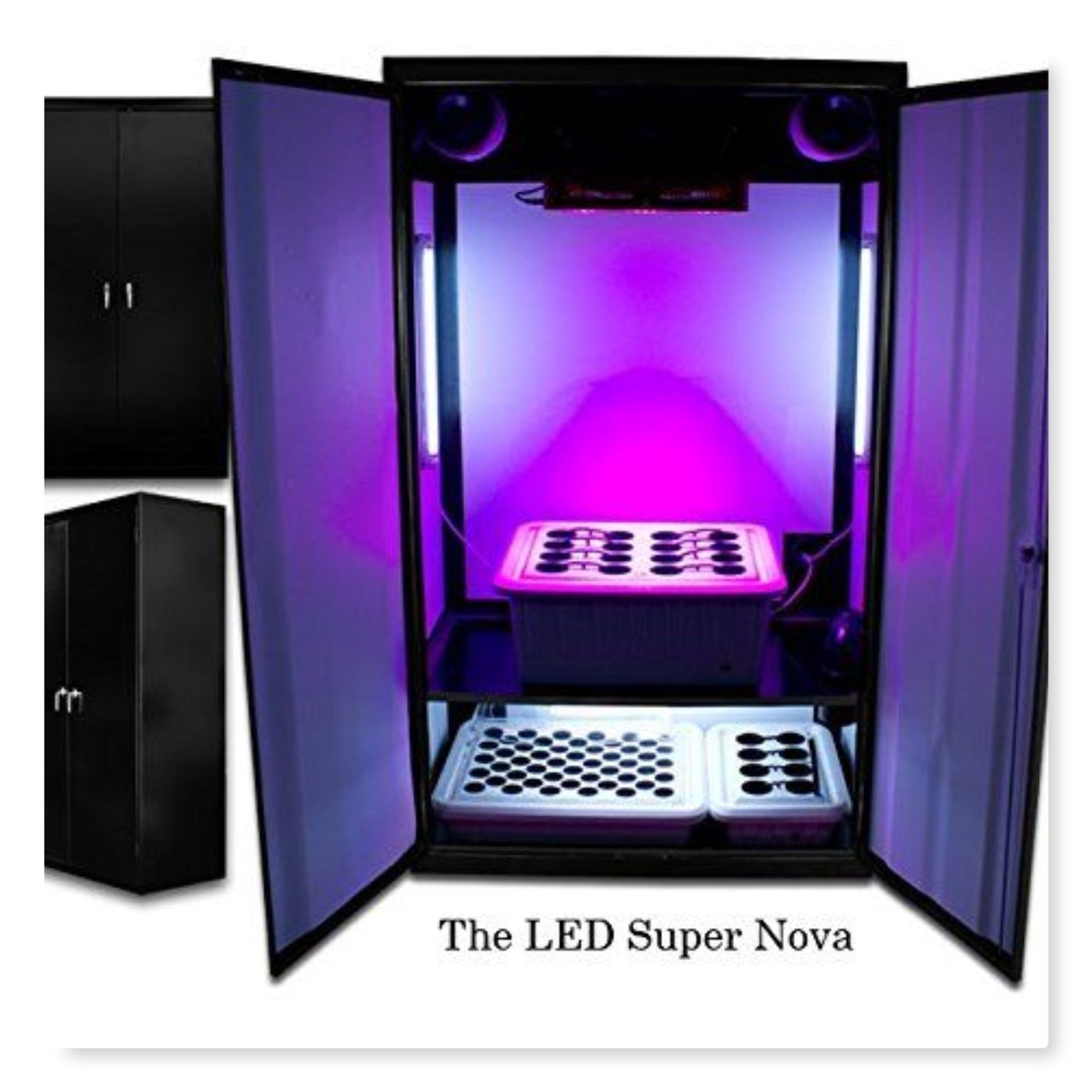 led super nova grow tent complete automated grow box system award winning design and. Black Bedroom Furniture Sets. Home Design Ideas