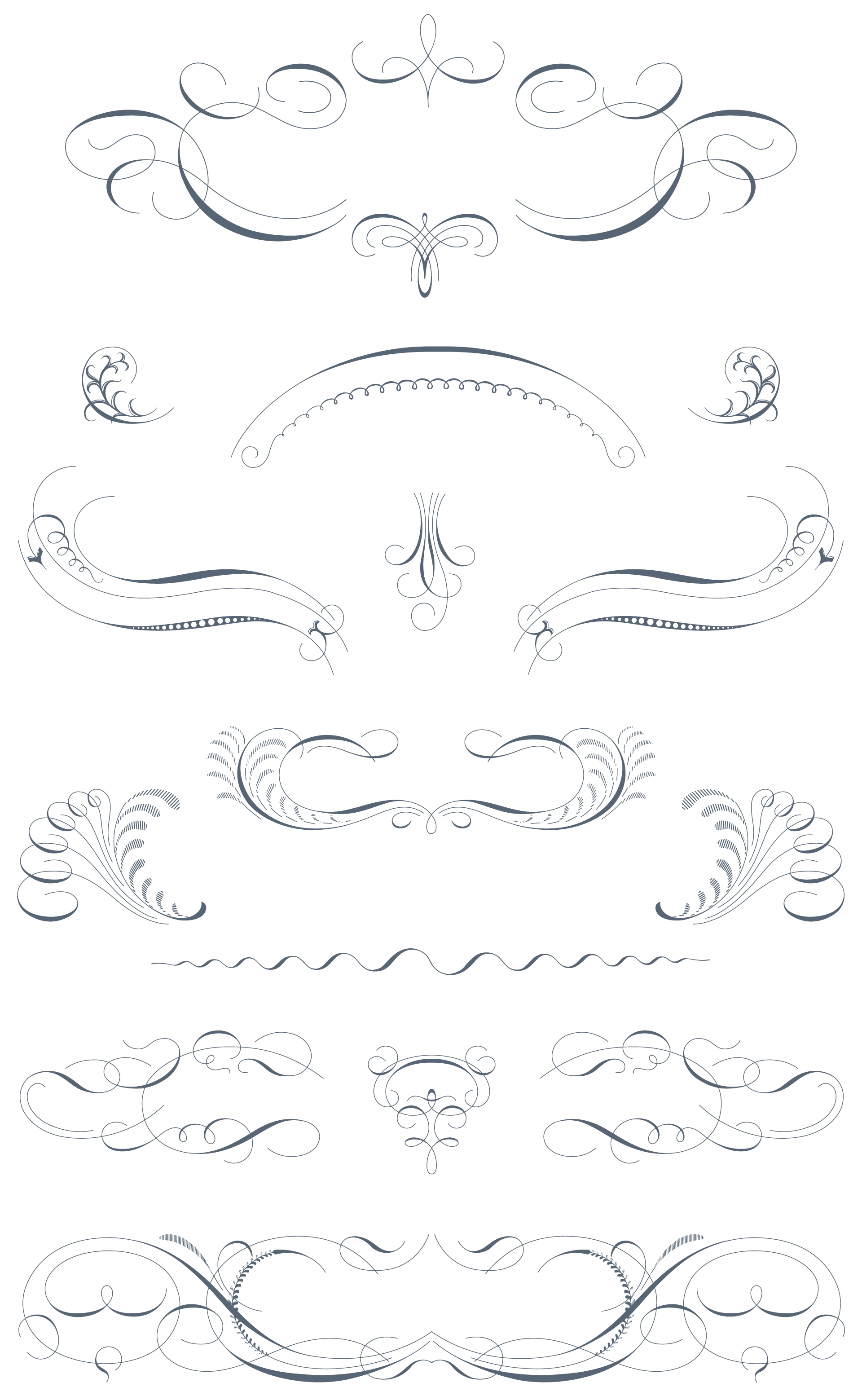 Luxurious Flourishes Vector Pack 543 Vector Ornaments 179
