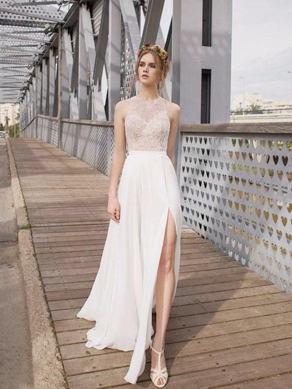Beautiful White Side Split Prom Dress Open Back Charming Bridesmaid Dresses Wd0190 In 2018 Homecoming Pinterest 2017 Wedding