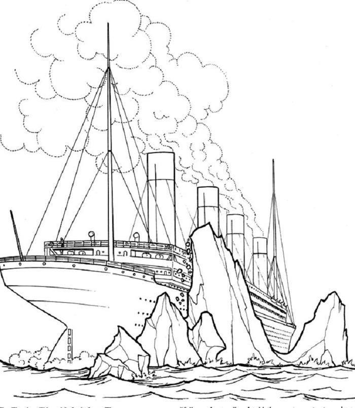 Titanic Ship Coloring Pages Titanic Ship Titanic Drawing Titanic