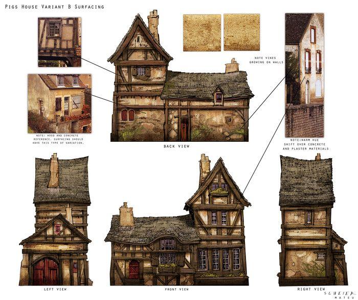 Jason Scheier S Portfolio Scared Shrekless Medieval Houses Building Concept Medieval