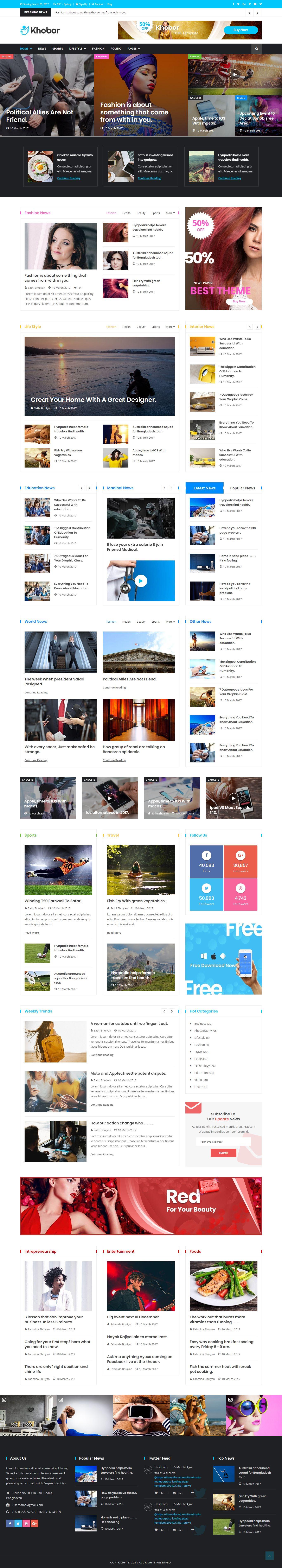 Modern Magazine Newspaper Html Website Template Download Website Template Templates Html Website Templates