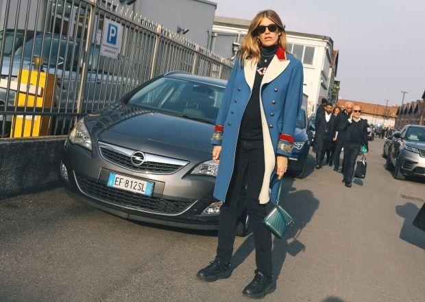 Veronika Heilbrunner in a Gucci coat