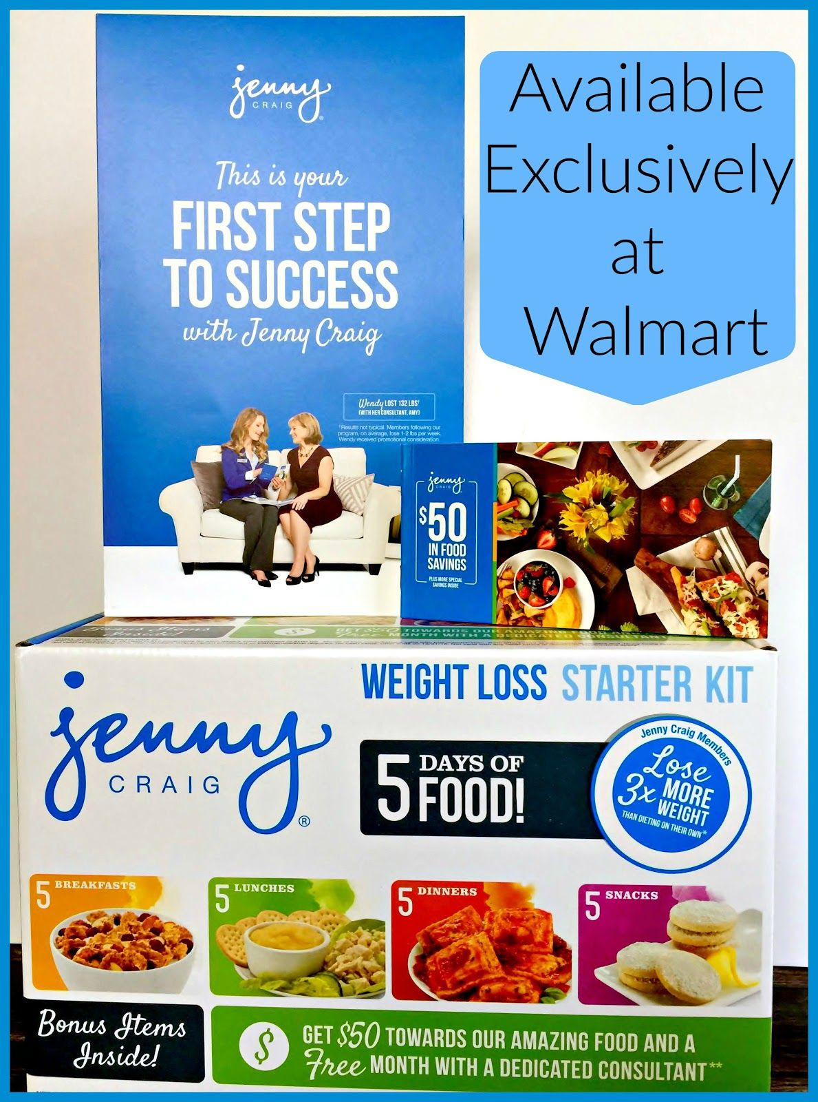 Take that First Step with Jenny Craig 5-Day Weight Loss Starter Kit #JennyCraigKit @Walmart #ad