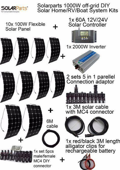 Goedkope Solarparts off grid Zonnestelsel KITS 1000 W