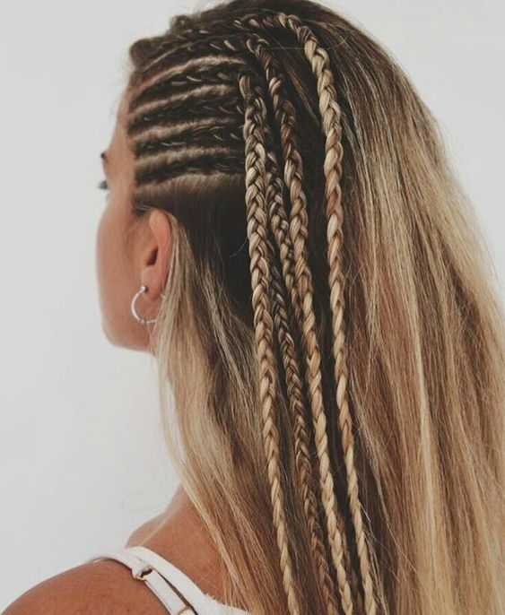 Tranças laterais #cabelos
