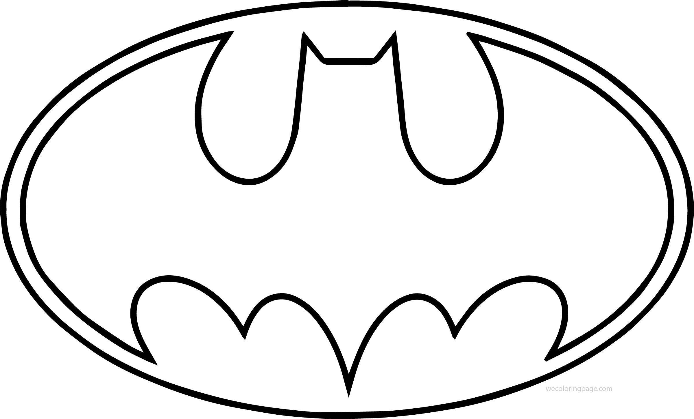 kleurplaat batman logo kleurplatenl