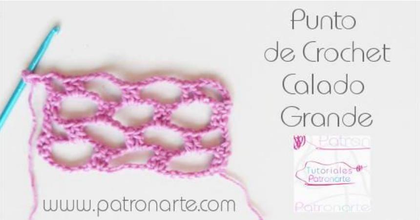 Cómo hacer calado grande en crochet | Manualidades | RED facilisimo ...