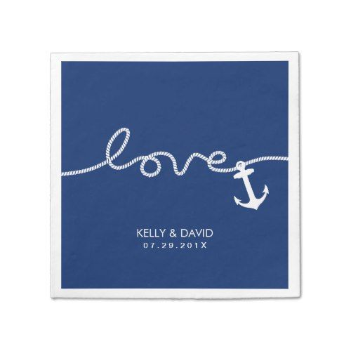 Model Of Nautical Anchor Wedding Tying the Knot Napkin For Your House - Style Of navy napkins Amazing