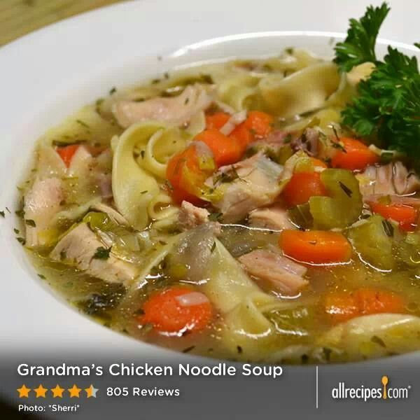 Meal Ideas With Chicken Noodle Soup: Grandma's Chicken Noodle Soup