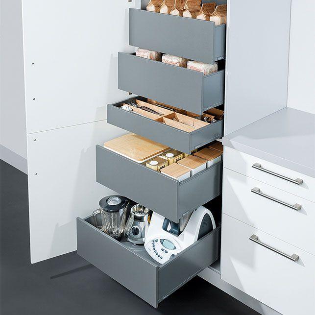 Afbeeldingsresultaat voor lades in hoge keukenkast for Keukenkast ontwerpen