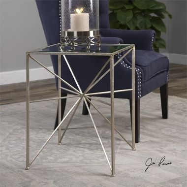 Beautiful Uttermost Silvana Silver Side Table Elegant -  C Tables for sofas Model