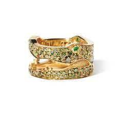 Crocodile Ring Pave